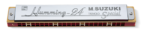 Humming-24 24-hole Tremolo Harmonica High-class Suzuki Humming